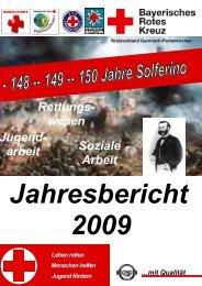 arbeit Jahresbericht 2009 - Bayerisches Rotes Kreuz Kreisverband ...