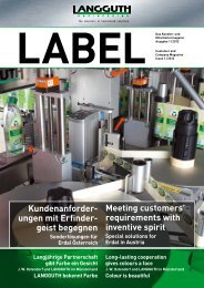 Meeting customers' requirements with inventive spirit - Langguth