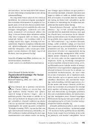 Organizational Knowledge. The Texture of ... - Nyt om Arbejdsliv