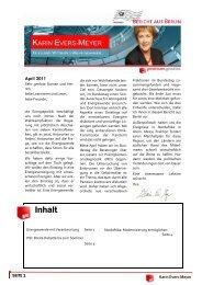 Bericht aus Berlin April 2011 - Karin Evers-Meyer MdB