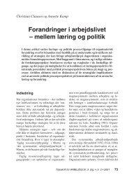 Forandringer i arbejdslivet – mellem læring og ... - Nyt om Arbejdsliv
