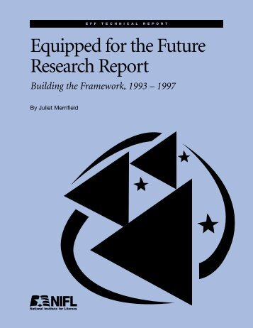 Equipped for the Future Research Report: Building the Framework