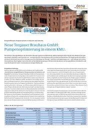 Neue Torgauer Brauhaus GmbH: Pumpenoptimierung in ... - Grundfos