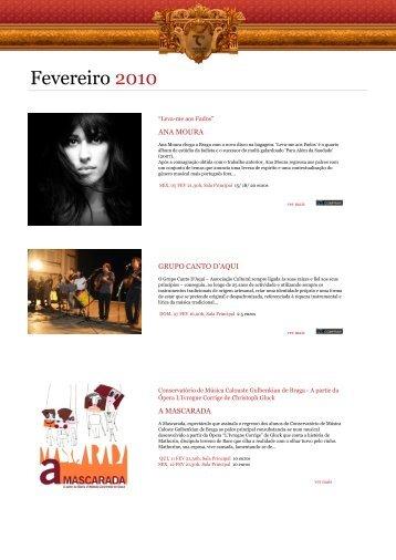 Agenda Digital Fevereiro 2010 - Theatro Circo