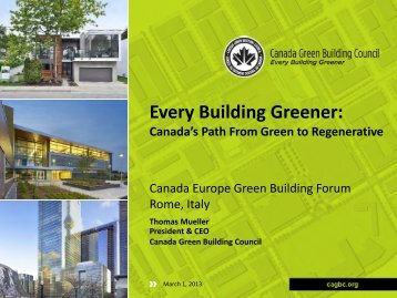 Every Building Greener: - Europe Green Building Forum