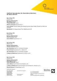 2013-2014 GGPs Oberstufenschüler - Berliner Philharmoniker