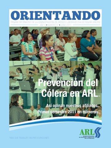 Prevención del Cólera en ARLP.3 - Administradora de Riesgos ...