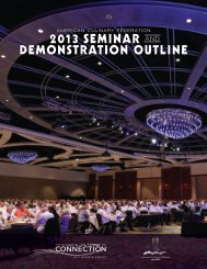 2013 seminar and demonstration outline - American Culinary ...