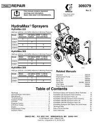 Parts Drawing – HydraMax 300/350 Sprayers - Graco Inc.