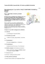 Fonden BYG-ERFA, HansenProfile, PC Vinduer og NIRAS A/S ...