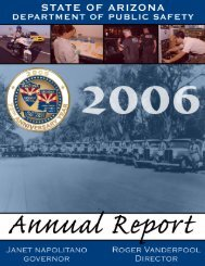 2006 DPS Annual Report - Arizona Department of Public Safety