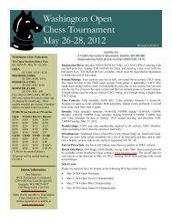WA Open Novice Championship - Northwest Chess!