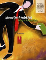 Arizona's Client Protection Fund - Lawyers