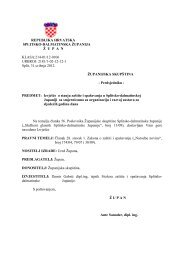 Izvješće o stanju zaštite i spašavanja u Splitsko-dalmatinskoj ...