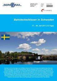 Bahnleckerbissen in Schweden 17. - 29. Juli 2011 (13 ... - SERVRail