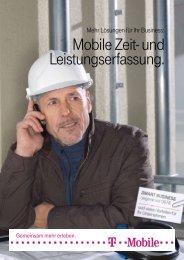 Mobile Zeit- und Leistungserfassung. - T-Mobile Business