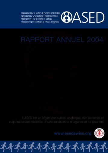 Rapport annuel 2004 - ASED