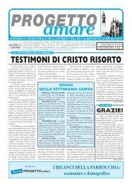 PROGETTO AMARE - Aprile 2006 - Webdiocesi