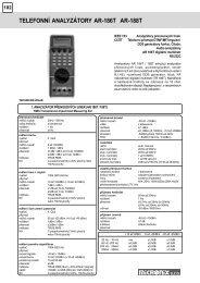 telefonní analyzátory ar-186t ar-188t - MICRONIX, spol. s ro
