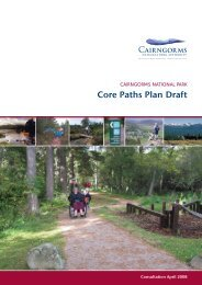 Core Paths Plan Draft - Cairngorms National Park Authority
