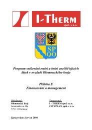 E - Financování a management - Olomoucký kraj