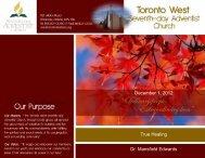 Pastors Clarke/Lazarus - Toronto West Seventh Day Adventist Church