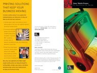 PRINTING SOLUTIONS THAT KEEP YOUR BUSINESS MOVING