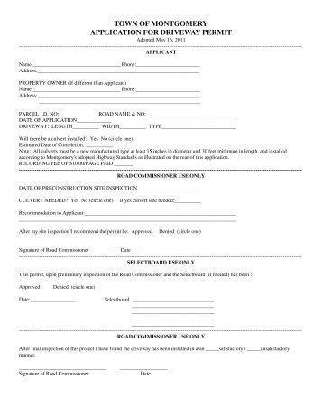 Concord Building Permit Application