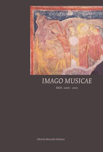 IMAGO MUSICAE - Università degli Studi di Verona