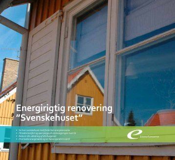 """Energirigtig renovering """"Svenskehuset"""" - Energitjenesten"""