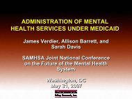 Medicaid MH Services - Mathematica Policy Research