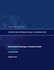 Existential Challenges to Global Health - Center on International ...