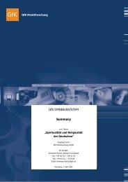 GfK OMNIBUSSYSTEM Summary - Die Zeit