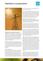 Miljøeffekter af energiproduktion - Energitjenesten