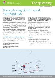 Konvertering til luft - vand varmepumpe - Videncenter for ...