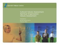 Cultural Values Assessment Spiritual Organization Values ...