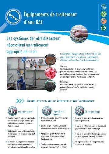 Équipements de traitement d'eau BAC - Baltimore Aircoil Europe
