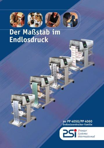 PSi PP 4050 und PP 4060 Broschüre - Andreas Laubner GmbH