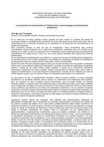 ENCUENTRO NACIONAL DE INVESTIGADORES FACULTAD DE ...
