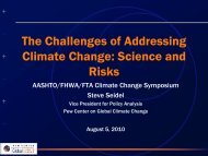 The Challenges of Addressing Climate Change - Center for ...