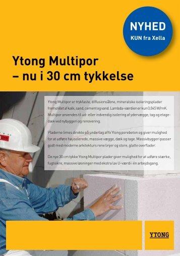 Informationsblad: Ytong Multipor 30 mm