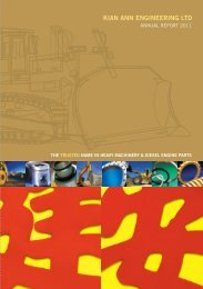 annual report 2011 - Kian Ann Engineering Pte Ltd