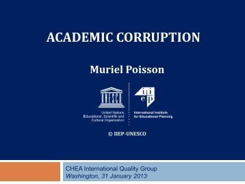 Academic Corruption (January 2013)