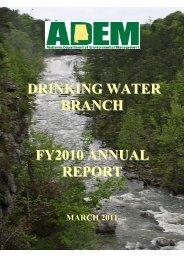 2010 Annual Report - Alabama Department of Environmental ...