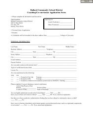 Application - Ballard Community School District