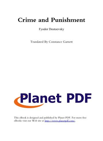 Crime and Punishment - Cifo