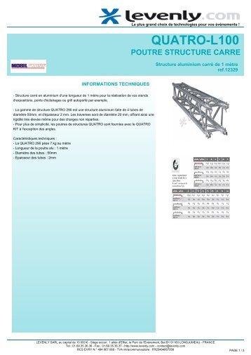 Fiche produit MOBIL TRUSS - QUATRO-L100, POUTRE ... - Levenly
