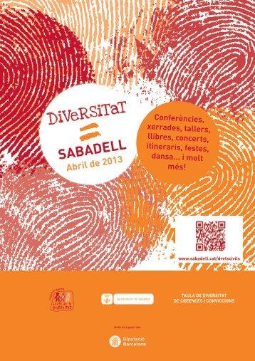 Mes de la Diversitat - Ajuntament de Sabadell