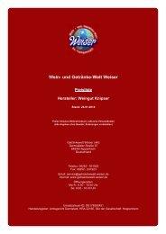 Preisliste für Hersteller: Weingut Knipser - und Getränke-Welt Weiser