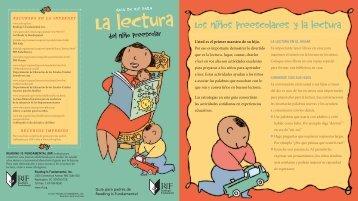Guia para la lectura del niño preescolar - Reading Is Fundamental